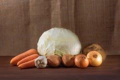 Todavía vida de verduras maduras Imagen de archivo
