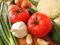 Todavía vida de verduras y de verdes Fotografía de archivo libre de regalías