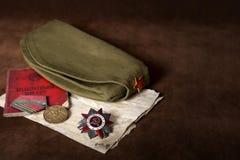 Todavía vida dedicada a Victory Day 9 pueden Foto de archivo libre de regalías