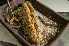 Todavía vida del pan Fotos de archivo