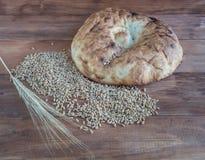 Todavía vida del pan Pita cocido Imagen de archivo