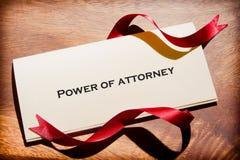Todavía vida del poder del abogado Document On Desk Fotografía de archivo