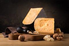 Todavía vida del queso Imagenes de archivo