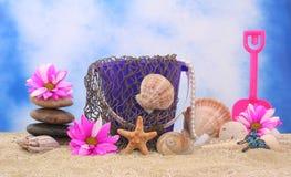 Todavía vida en la playa Imágenes de archivo libres de regalías
