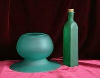 Todavía vida en verde y la púrpura 2 Fotos de archivo libres de regalías