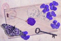 Todavía vida: Memorias de la violeta fotos de archivo libres de regalías