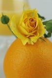 Todavía vida - naranja jugosa Foto de archivo
