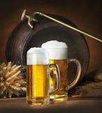 Todavía vida con la cerveza Imagen de archivo libre de regalías