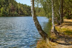Today a bathing lake, formerly a quarry royalty free stock images
