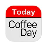 Today is Coffee Day Icon. 3d Rendering Royalty Free Illustration