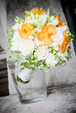 Today is the day. Floral arrangement for the bride or godfathers, godmothers Stock Image