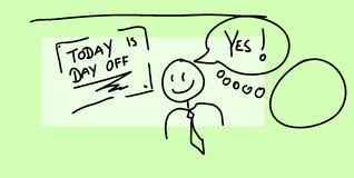 Today is day off Stock Images