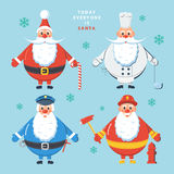 Today everyone is Santa. Color vector illustration. Royalty Free Stock Images