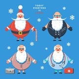 Today everyone is Santa. Color vector illustration. Today everyone is Santa. Design color vector illustration Royalty Free Stock Images