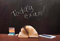 Today exam written Royalty Free Stock Photos