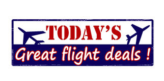 Today great flight deals Stock Image