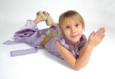 Today I want to be. A young child pretends she can be anything Stock Photos