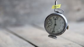 Today idea - text and old pocket watch stock video