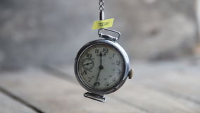 Today idea - text and old pocket watch stock footage