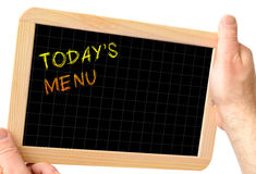 Today menu Royalty Free Stock Photography