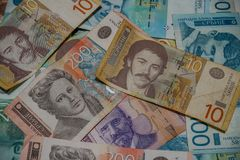 Today money is a very important factor for people`s lives royalty free stock photography