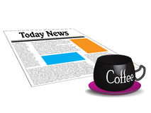 Today news and morning coffee Stock Images