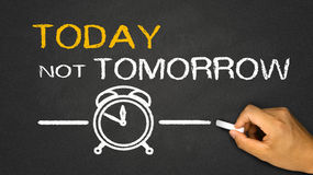 Today not tomorrow Stock Photography