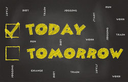 Today, Not Tomorrow Royalty Free Stock Photos