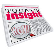 Today's Insight Newspaper Headline Information Update Analysis Stock Photo