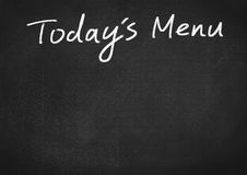 Today`s menu Stock Photography