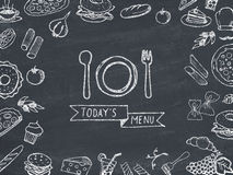 Today's menu Stock Photography
