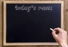 Today's menu Stock Image