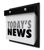 Today's News Calendar Update Information Important Alert Stock Photography
