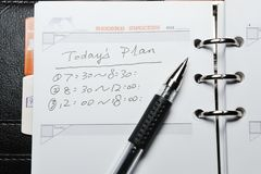 Today's plan Royalty Free Stock Photography
