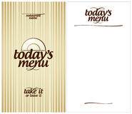 Today`s Restaurant menu. Stock Photos