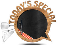 Today's Special - Blackboard Speech Bubble Shaped Royalty Free Stock Photo
