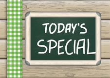 Today's Special Blackboard Wood Royalty Free Stock Image