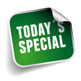 Today´s special label Royalty Free Stock Image