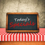 Today's Special Title on Restaurant Slate Chalkboard Royalty Free Stock Photography