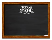 Today's specials. A chalkboard with Today's Specials written on it Royalty Free Stock Image