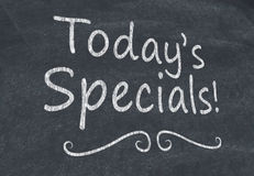 Today's specials Stock Images