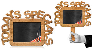 Today's Specials - Chef Holding Chalkboard Royalty Free Stock Photos
