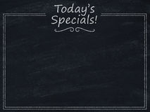 Today's specials menu Stock Image