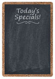 Today's specials menu. On blackboard Royalty Free Stock Photos