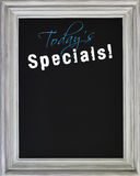 Today's Specials Menu on Blackboard Royalty Free Stock Photo