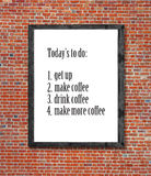 Today`s to do written in picture frame Stock Image