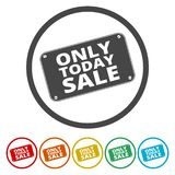 Only Today sale sign vector illustration