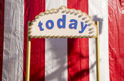 Today sign Stock Image