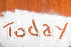 Today sign, Flour Artwor Stock Image