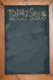 Today special. Written on chalkboard. concept photo of food and drinks Stock Photos